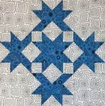 Another Double Star quilt block variation...