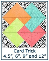 Card Trick quilt block tutorial