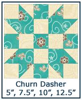 Churn Dasher quilt block tutorial