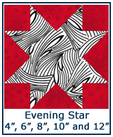 Evening Star quilt block tutorial