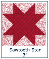 Sawtooth Star quilt block lesson