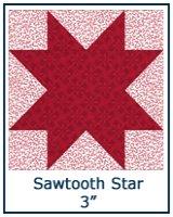 Sawtooth Star quilt block lesson