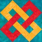Double Link quilt block