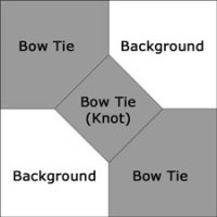 3D Bow Tie quilt block design