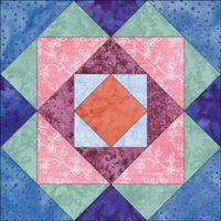 Boxes quilt bloc design