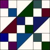 Jacob's Ladder quilt block variation