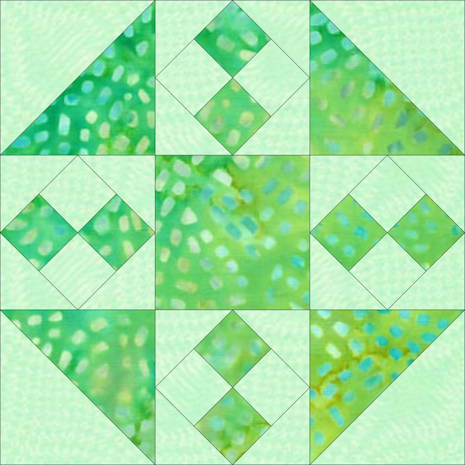 Cross and Chains quilt block design