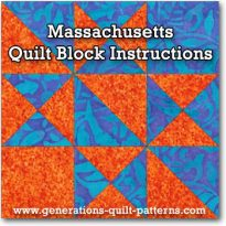 Massachusetts quilt block tutorial
