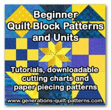Beginner Quilt Block Patterns Series