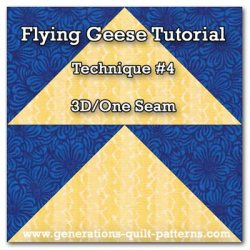 A 3D, one seam Flying Geese quilt block tutorial