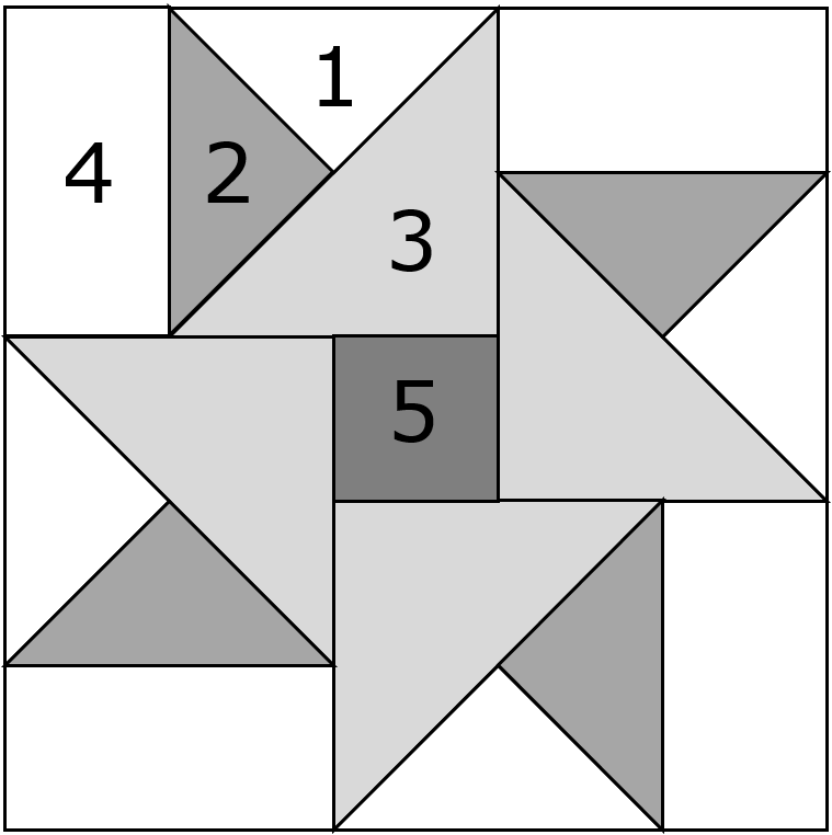 Double Star quilt block design