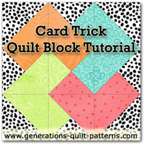 Card Trick quilt block pattern tutorial