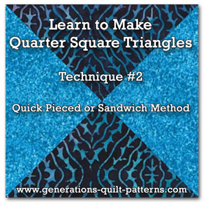 Quarter Square Triangle tutorial #2
