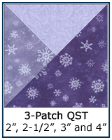 3-Patch Quarter Square Triangle quilt block
