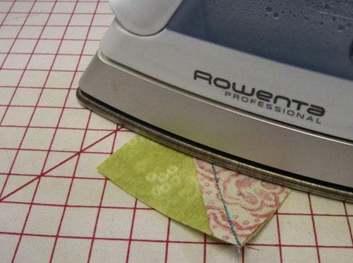 Press flat to set the seam