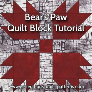 Bears Paw Quilt Block Pattern: Instructions in 3 Sizes : bear claw quilt - Adamdwight.com