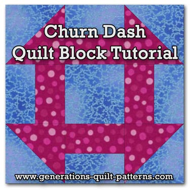Churn Dash quilt block instructions