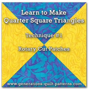 Quarter Square Triangle tutorial