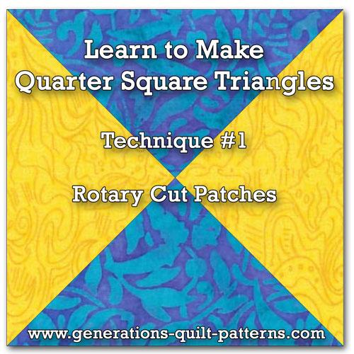 Quarter Square Triangle tutorial