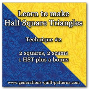 Make a half square triangle plus a bonus