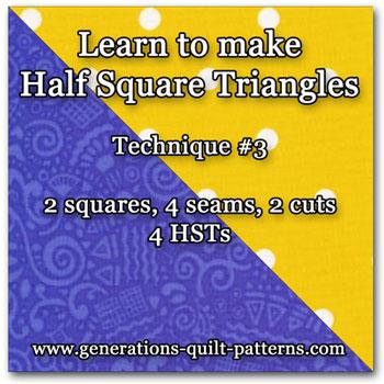 Half Square Triangle Tutorial 3 of 5