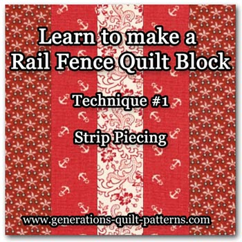 Rail Fence quilt block tutorial