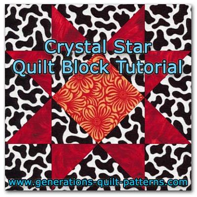Crystal Star quilt block