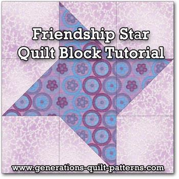 Friendship Star Quilt Block Instructions in 5 sizes