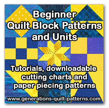 Beginner Quilt Block Pattern Lessons