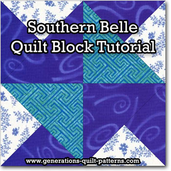 Southern Belle quilt block tutorial