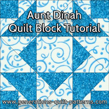 """Aunt Dinah Paper Pieced Quilt Block"" Free Pattern designed and from Generations Quilt Patterns"