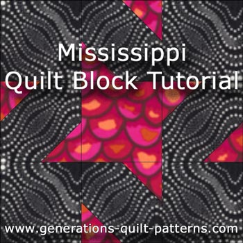 Mississippi quilt block tutorial