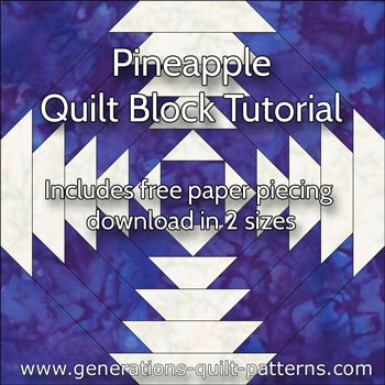 Free Pineapple Quilt Patterns: Illustrated Step-by-Step ... : pineapple quilt tutorial - Adamdwight.com