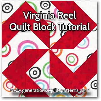 Virginia Reel quilt block instructions