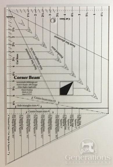 The Corner Beam quilting ruler