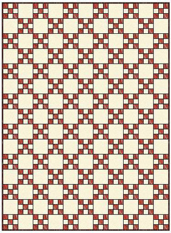 Single Irish Chain Quilt - straight set