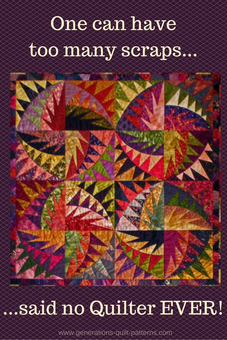 Scrappy Quilts Choosing Quilting Material For Scrap Quilt Patterns