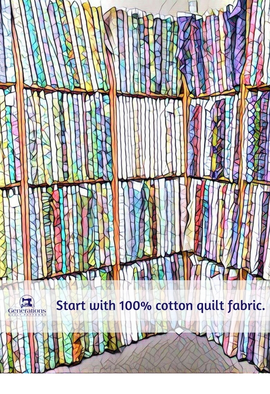 100% cotton fabrics are perfect for the beginning quilter.