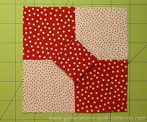 3D Bow Tie Quilt Block Multi Size Instructions