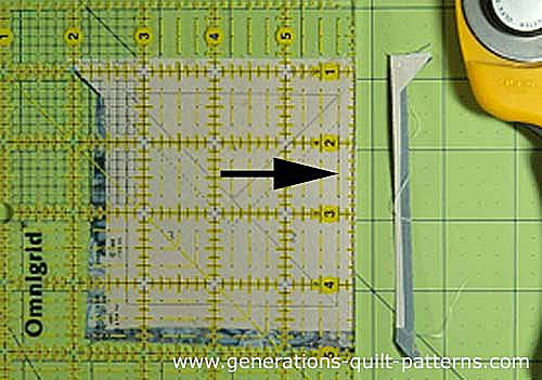 Trim to size with your rotary cutter and ruler