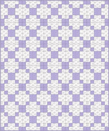 Pennsylvania quilt blocks set edge-to-edge in a straight set