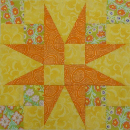 Your 54-40 or Fight quilt block is finished