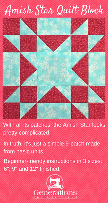 Amish Star Quilt Block 6 Quot 9 Quot And 12 Quot Finished