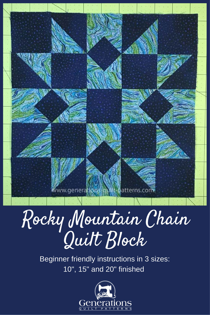 Rocky Mountain Chain quilt block tutorial continued
