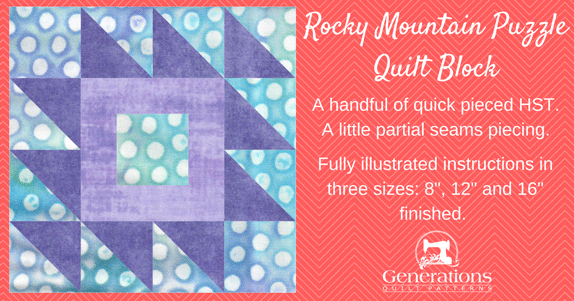 The Rocky Mountain Puzzle quilt block tutorial starts here