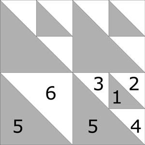 Aircraft quilt block design