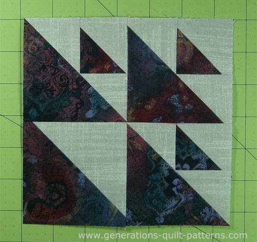 Finished Aircraft quilt block