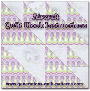 Aircraft quilt block instructions