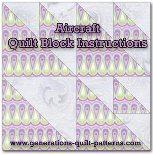 Aircraft quilt block instructions
