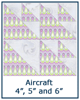 Aircraft quilt block tutorial